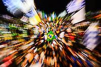RIO DE JANEIRO, RJ, 23  DE JULHO DE 2013 - JMJ RIO 2013-MISSA DE ABERTURA DA JMJ Fiéis, peregrinos e voluntários lotam as areias da praia de Copacabana na cerimônia de abertura da Jornada Mundial da Juventude(JMJ), celebrada pelo arcebispo do Rio de Janeirto, Don Orani Tempesta em Copacabana, zona sul do  Rio de Janeiro.FOTO:MARCELO FONSECA/BRAZIL PHOTO PRESS