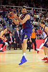 Turkish Airlines Euroleague 2017/2018.<br /> Regular Season - Round 28.<br /> FC Barcelona Lassa vs Baskonia Vitoria Gasteiz: 73-86.<br /> Pierre Oriola.