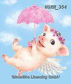 Kayomi, CUTE ANIMALS, LUSTIGE TIERE, ANIMALITOS DIVERTIDOS, paintings+++++,USKH354,#ac#, EVERYDAY ,pig,pigs