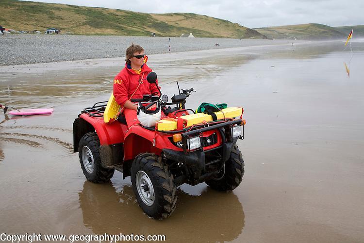 Lifeguard, Whitesands, beach, Newgale, Pembrokeshire, Wales