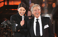 Emma Willis, Lionel Blair at Celebrity Big Brother 2014 - Contestants Enter The House, Borehamwood. 03/01/2014 Picture by: Henry Harris / Featureflash