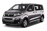 2017 Peugeot Traveller Allure 4 Door Passenger Van Angular Front stock photos of front three quarter view