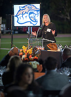 Director of Athletics Jaime Hoffman. The Occidental College Athletics Dept. host their annual Hall of Fame dinner during Homecoming & Family Weekend, Saturday, Oct. 19, 2013. (Photo by Marc Campos, Occidental College Photographer)