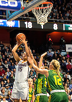 03-06-17 AAC Tournament.  #15 Gabby Williams drives for two of her 11 points as UCONN routed USF in the finals 100-44