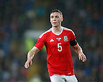 James Chester of Wales during the international friendly match at the Cardiff City Stadium. Photo credit should read: Philip Oldham/Sportimage