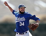 Western Nevada College's Evan Parker pitches in a college baseball game against Colorado Northwestern in Carson City, Nev., on Sunday, March 10, 2013. WNC swept the weekend series 4-0..Photo by Cathleen Allison