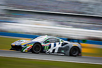 26-29 January, 2017, Daytona Beach, Florida USA<br /> 51, Ferrari, Ferrari 488 GT3, GTD, Peter Mann, Maurizio Mediani, Alessandro Pier Guidi, Davide Rigon<br /> ©2017, Barry Cantrell<br /> LAT Photo USA