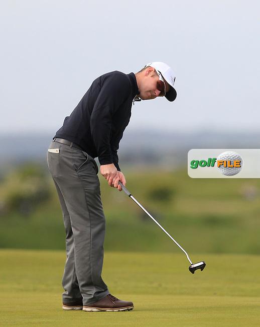 Mark Shanahan (Castlemartyr) on the 1st green during Round 1 of the East of Ireland Amateur Open Championship at Co. Louth Golf Club, Baltray on Saturday 30th May 2015.<br /> Picture:  Thos Caffrey / www.golffile.ie