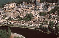 Europe/France/Aquitaine/24/Dordogne/La Roque Gageac: La vallée de la Dordogne Vue aérienne