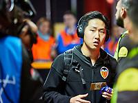 5th November 2019; Mestalla, Valencia, Spain; UEFA Champions League Football,Valencia versus Lille; Kangin Lee arrives at Mestalla stadium - Editorial Use