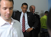 Arlington, VA - May 5, 2009 -- United States President Barack Obama and Vice President Joe Biden stand in line, waiting to order lunch at Ray's Hell Burger in Arlington, Virginia, on May 5, 2009.  .Credit: Roger L. Wollenberg - Pool via CNP