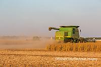 63801-08006 Soybean Harvest John Deere combine Marion Co. IL