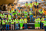 The American Civil Constructors (ACC) crew, responsible for nearly all of the road surface over the new Bay Bridge in San Francisco, CA. Labor day bridge closure Thursday August 29, Friday August, 30, 2013. With ACC road crews.