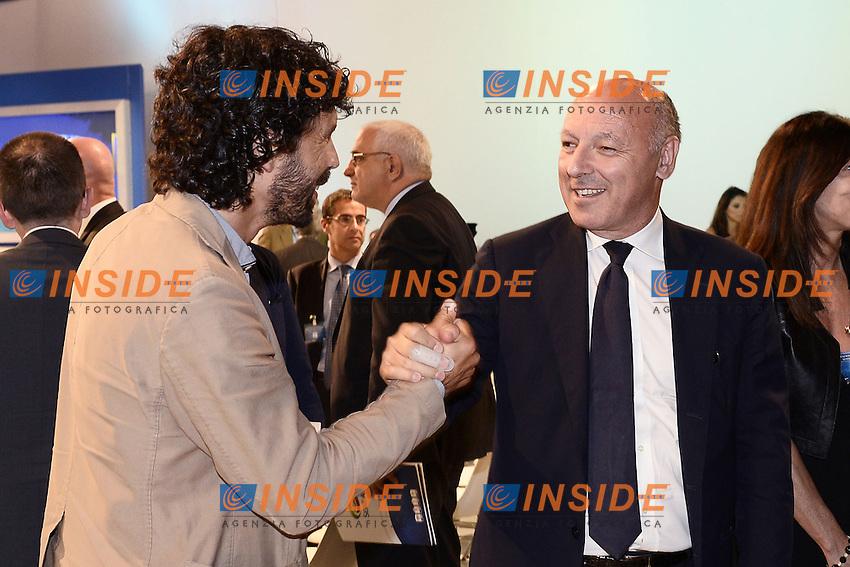 Milano 28/07/2014 - presentazione calendari serie A stagione 2014-2015 / foto Daniele Buffa/Image Sport/Insidefoto<br /> nella foto: Giuseppe Marotta-Damiano Tommasi