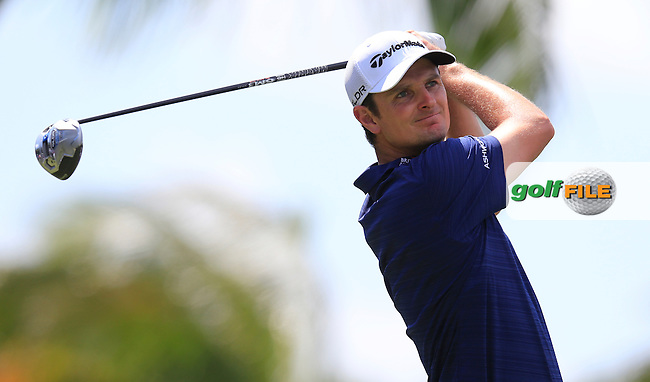 Justin Rose (ENG) during round 2 at the WGC Cadillac Championship, Blue Monster, Trump National Doral, Miami, Florida,USA.<br /> Picture: Fran Caffrey www.golffile.ie