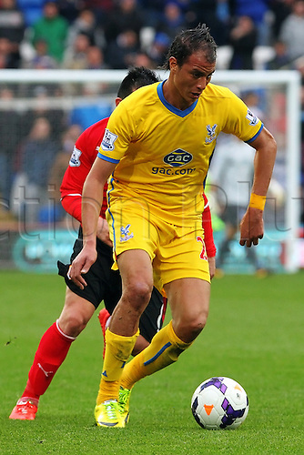 05.04.2014  Cardiff, Wales. Marouane Chamakh of Crystal Palace  in action during the Premier League game between Cardiff City and Crystal Palace  from Cardiff City Stadium.