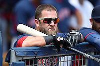 Boston Red Sox first baseman Mike Napoli (12) before a spring training game against the Tampa Bay Rays on March 25, 2014 at Charlotte Sports Park in Port Charlotte, Florida.  Boston defeated Tampa Bay 4-2.  (Mike Janes/Four Seam Images)