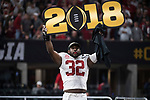 ATLANTA, GA - JANUARY 08: Rashaan Evans #32 of the Alabama Crimson Tide celebrates after defeating the Georgia Bulldogs during the College Football Playoff National Championship held at Mercedes-Benz Stadium on January 8, 2018 in Atlanta, Georgia. Alabama defeated Georgia 26-23 for the national title. (Photo by Jamie Schwaberow/Getty Images)