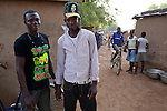 Teenage boys in the village of Manyoro, in the Bolgatanga municipality of North Eastern Ghana..Ghana 20 January 2012.