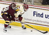 Jamie Kenyon (UMD - 16), Alex Carpenter (BC - 5) -  - The visiting University of Minnesota Duluth Bulldogs defeated the Boston College Eagles 3-2 on Thursday, October 25, 2012, at Kelley Rink in Conte Forum in Chestnut Hill, Massachusetts.