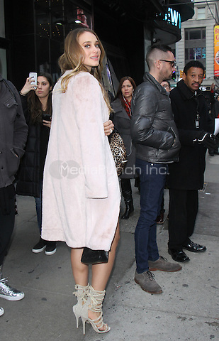 NEW YORK, NY - DECEMBER 21: Hannah Davis at Good Morning America to judge the X-Mas sweater contest in New York City on December 21, 2016. Credit: RW/MediaPunch