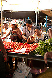 MAURITIUS, Flacq, the largest open air market in Mauritius, Flacq Market, buying fresh tomatoes