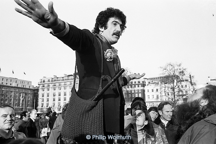 Tony Allen, anarchist, Speakers' Corner, Hyde Park, London.