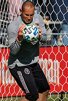 WASHINGTON, DC - MARCH 07: Luis Robles #31 of Inter Miami warms up during a game between Inter Miami CF and D.C. United at Audi Field on March 07, 2020 in Washington, DC.