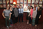 Corey Cott and Laura Osnes with the cast of 'Bandstand' attends the Laura Osnes Sardi's Portrait Unveiling at Sardi's on May 12, 2017 in New York City.