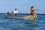 Jonathon Schlosser & Meghan Staley With Hydrophone Tracking Lemon Sharks Tracking Lemon Sharks