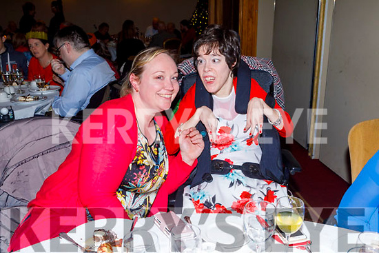 The O'Brien sisters, Terry and Jennifer from Ballyduff at the Tralee Branch of the Irish Wheelchair Associations Christmas Party in the Meadowlands Hotel on Sunday