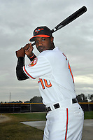 Feb 27, 2010; Tampa, FL, USA; Baltimore Orioles  outfielder Adam Jones (10) during  photoday at Ed Smith Stadium. Mandatory Credit: Tomasso De Rosa/ Four Seam Images