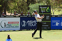 Anthony Quayle (AUS) in action on the 2nd during Round 3 of the ISPS Handa World Super 6 Perth at Lake Karrinyup Country Club on the Saturday 10th February 2018.<br /> Picture:  Thos Caffrey / www.golffile.ie<br /> <br /> All photo usage must carry mandatory copyright credit (&copy; Golffile | Thos Caffrey)