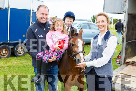 The O'Sullivan family from Fossa enjoying the Blennerville Pony & Agricultural Show on Sunday<br /> L to r: Padraig, Chloe, Celine and Aaron O'Sullivan.