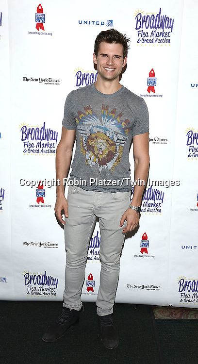 Kyle Dean Massey attends the 28th Annual  Broadway Cares/ Equity Fights Aids Flea Market and Auction on September 21,2014 in Shubert Alley in New York City. <br /> <br /> photo by Robin Platzer/Twin Images<br />  <br /> phone number 212-935-0770