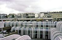 Paris: Forum des Halles--the top of a four-level underground concourse. Pencreac'h (sic) and Vasconi, 1980. Photo '87.