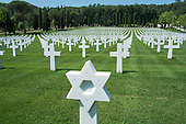 The Florence American Cemetery, Italy, site of 4,402 US Fifth Army graves of men killed in WWII.