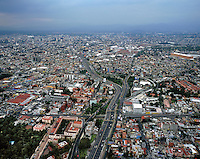 aerial photograph of the Periferico highway that forms a belt around Mexico City