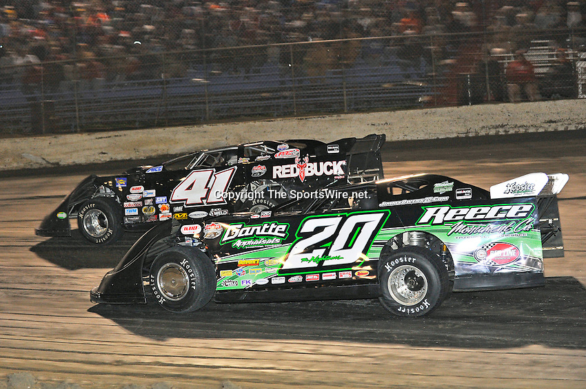 Feb 11, 2011; 9:17:27 PM; Gibsonton, FL., USA; The Lucas Oil Dirt Late Model Racing Series running The 35th annual Dart WinterNationals at East Bay Raceway Park.  Mandatory Credit: (thesportswire.net)