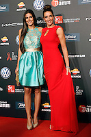 Spanish model Elsa Anka (r) and her daugther Lidia during Barcelona 5th AIDS Ceremony. November 24,2014.(ALTERPHOTOS/Acero) /NortePhoto<br />