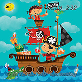Sarah, CUTE ANIMALS, LUSTIGE TIERE, ANIMALITOS DIVERTIDOS, paintings+++++Pirate-15-A,USSB232,#AC#,birthday ,everyday