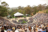 (Photo by Kevin Burke, Freelance)<br /> <br /> Occidental College Commencement ceremony for the class of 2016, May 15, 2016 in the Remsen Bird Hillside Theater.<br /> <br /> (Photo by Kevin Burke, Freelance)