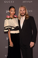 LOS ANGELES, CA - NOVEMBER 04: Zoe Saldana, Marco Perego at the 2017 LACMA Art + Film Gala Honoring Mark Bradford And George Lucas at LACMA on November 4, 2017 in Los Angeles, California. <br /> CAP/MPI/DE<br /> &copy;DE/MPI/Capital Pictures