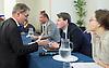 UKIP<br /> final UKIP Leadership hustings debate , Westminster, London, Great Britain <br /> 25th August 2016 <br /> <br /> <br /> <br /> <br /> <br /> Bill Etheridge <br /> <br /> Phillip Broughton - UKIP members talks to him during break <br /> <br /> Elizabeth Jones <br /> <br /> <br /> <br /> <br /> <br /> Photograph by Elliott Franks <br /> Image licensed to Elliott Franks Photography Services
