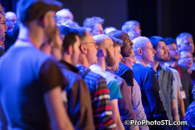 Gateway Men's Chorus and Heartland Men's Chorus presenting Harvey Milk show at 560 Music Center in St. Louis, MO on Apr 4, 2014.