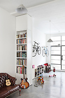 The 2,600 sq ft of space includes an open-plan ground floor with plenty of room for the children's toys