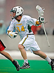 1 April 2008: University of Vermont Catamounts' Shay Cunningham, a Senior from Southborough, MA, in action against the Fairfield University Stags at Moulton Winder Field, in Burlington, Vermont. The Catamounts rallied to overcome a five goal deficit and defeat the visiting Stags 9-8 notching their third win of the season...Mandatory Photo Credit: Ed Wolfstein Photo