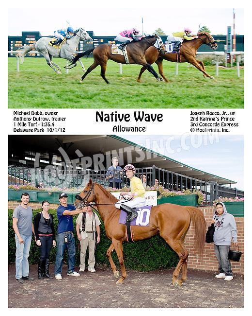 Native Wave winning at Delaware Park on 10/1/12