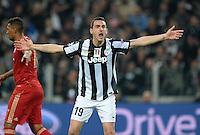 FUSSBALL  CHAMPIONS LEAGUE  VIERTELFINALE  RUECKSPIEL  2012/2013      Juventus Turin - FC Bayern Muenchen        10.04.2013 Leonardo Bonucci (Juventus Turin) emotional