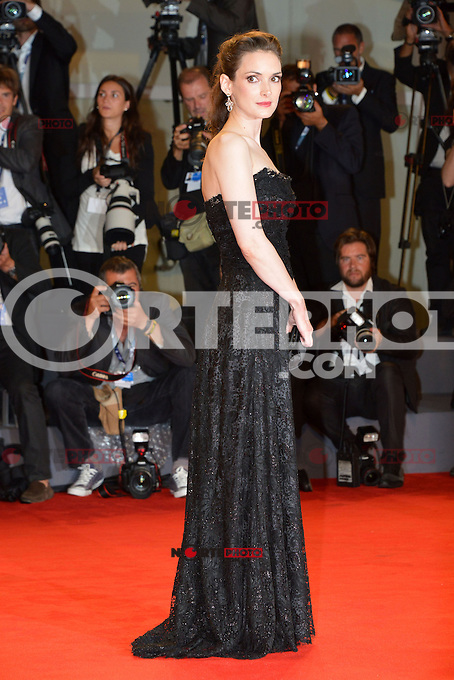 VENICE, ITALY - AUGUST 30: Actress Winona Ryder attends 'The Iceman' Premiere during the 69th Venice International Film Festival at Palazzo del Casino on August 30, 2012 in Venice, Italy AFG / Mediapunchinc